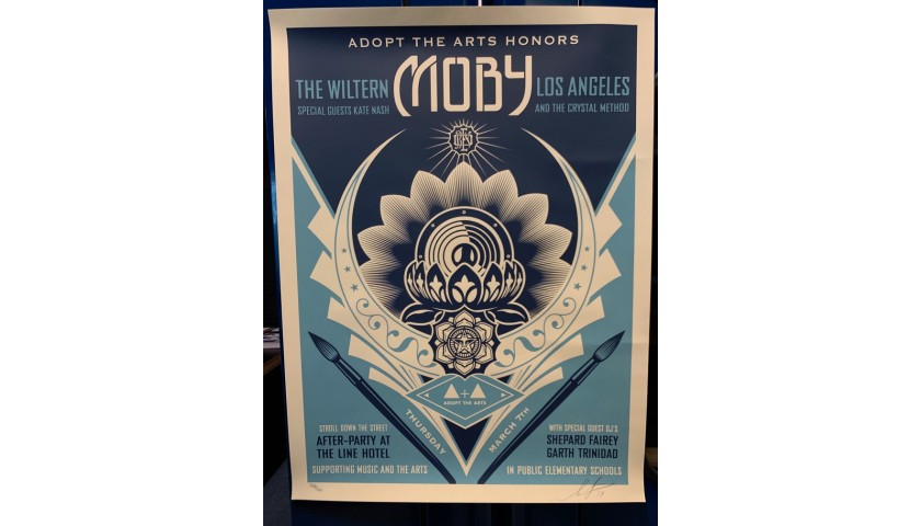 Moby Poster Created and Signed by Shepard Fairey