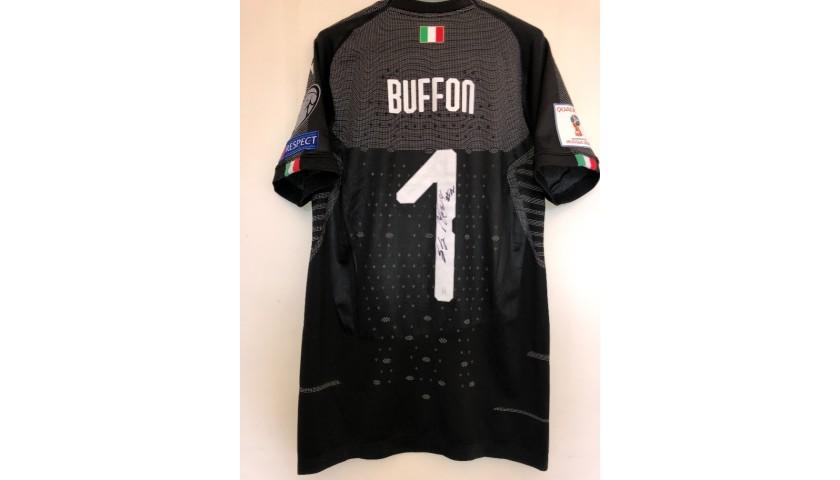 Buffon's Match Signed Shirt, Italy-Sweden 2017