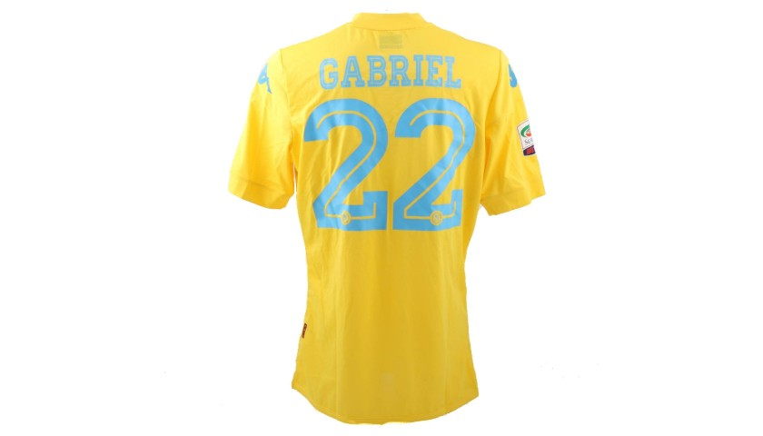 Gabriel's Napoli Match-Issue/Worn Shirt, 2015/16