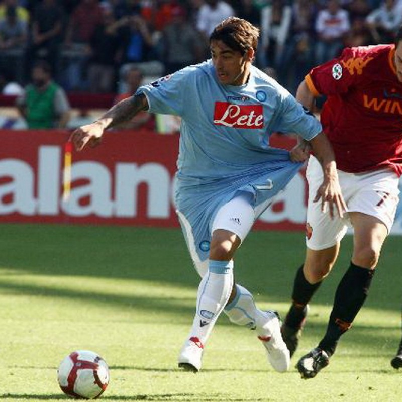 Lavezzi's Napoli Worn and Signed Shirt, 2009/10