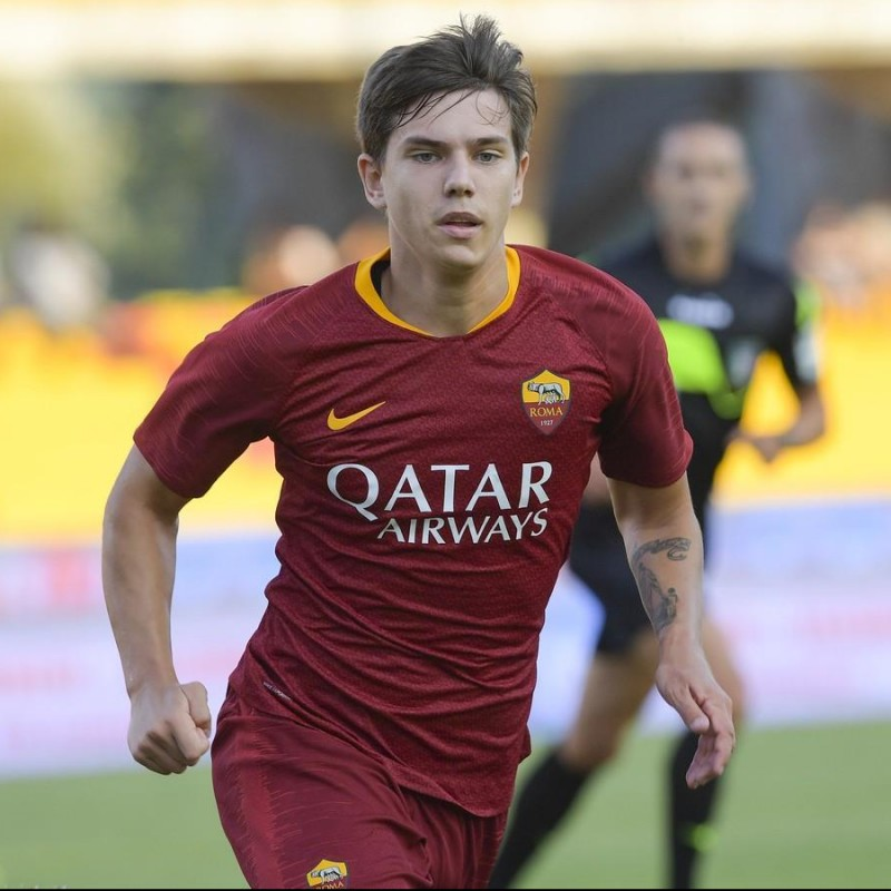 Coric's Worn and Signed Shirt, Roma-Genoa 2018