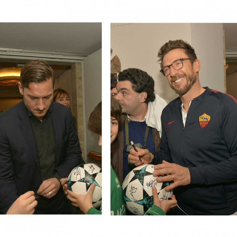 Official Champions League Ball Signed by the AS Roma players
