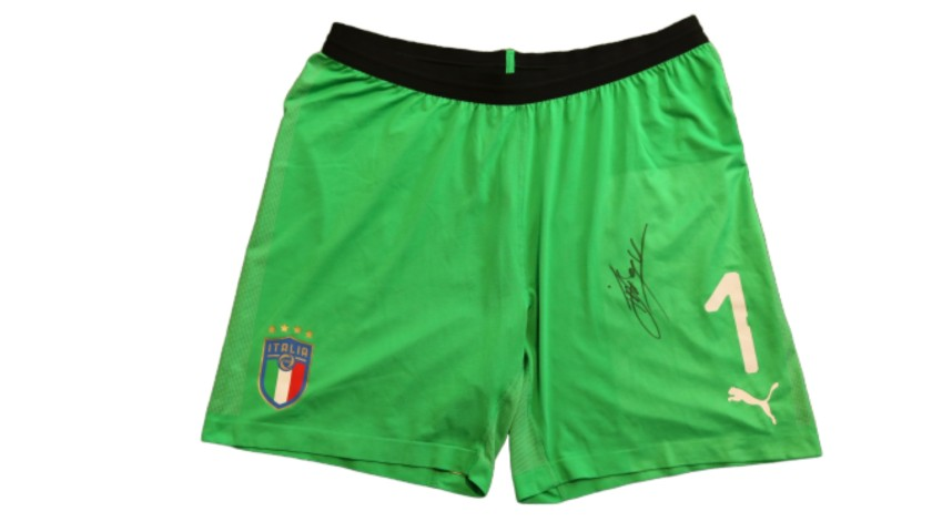 Sirigu's Italy Signed Match Shorts, 2019