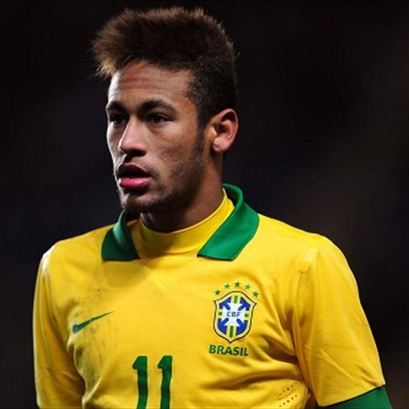 Maglia gara Neymar Brasile, 2013 - Autografata dalla rosa
