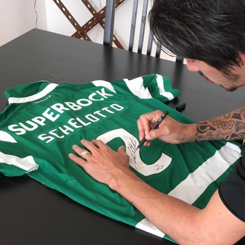 Match worn Schelotto shirt, SCP Sporting CP-Maritimo Primeira Liga 09/04 - signed