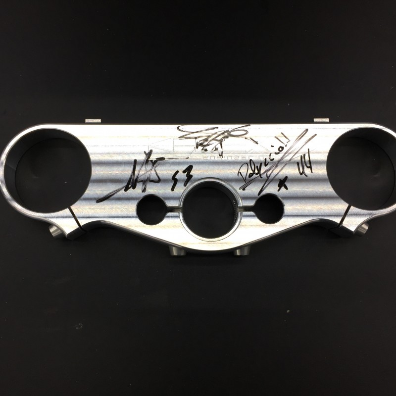Kalex Upper Triple Clamp Signed by All the Kalex World Champions