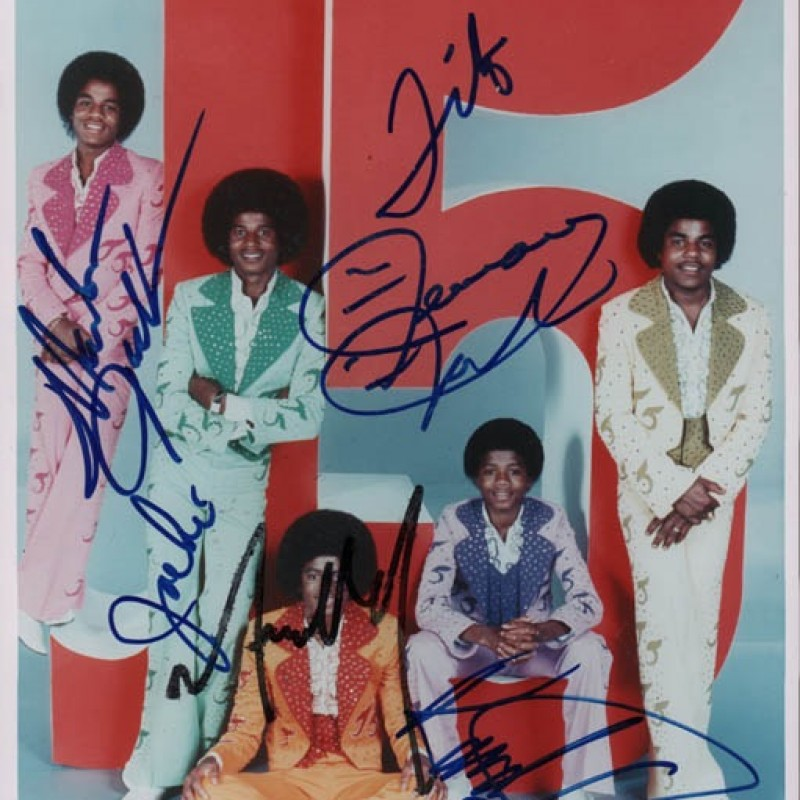 The Jackson 5 Hand Signed Photograph