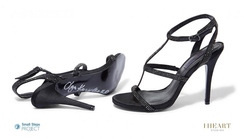 Olga Kurylenko Signed Shoes