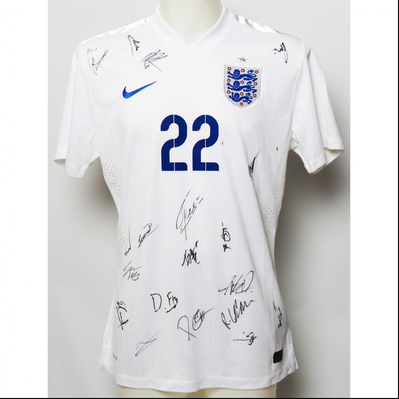 England U21's Squad Signed Jersey