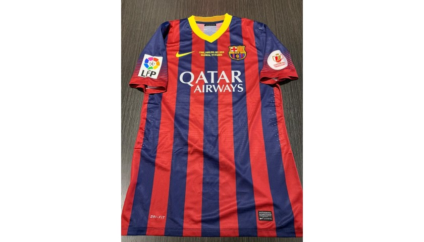 Messi's Barcelona Signed Match Shirt, Copa del Rey 2014 Final