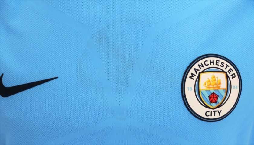 De Bruyne's Man City Worn and Signed Shirt, 2017/18