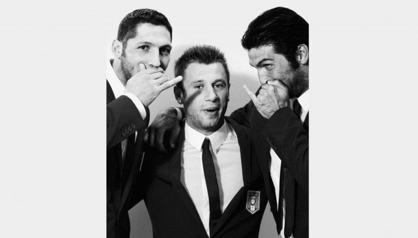 Italian National Football Team Trench Coat Worn by Antonio Cassano