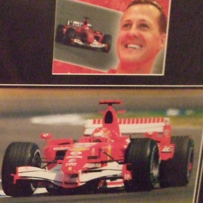Michael Schumacher Signed Cap Display