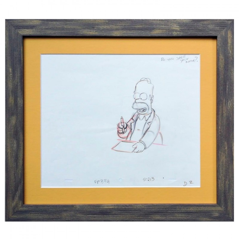 The Simpsons - Homer Simpson Original Drawing