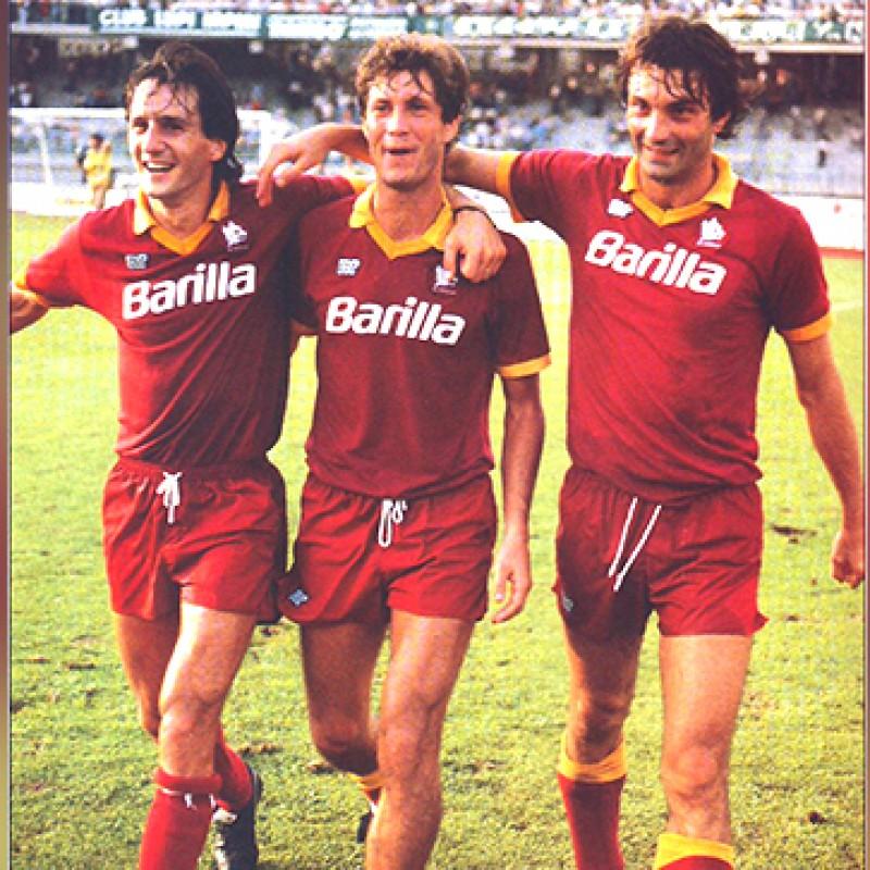 Giannini's Match-Issued/Worn 1988/89 Roma Shirt