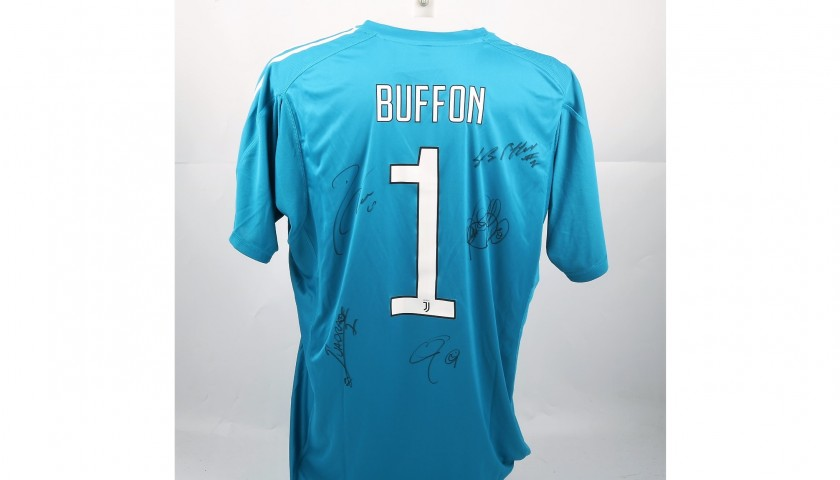 Buffon's Official 2017/18 Juventus Shirt, Signed by Players