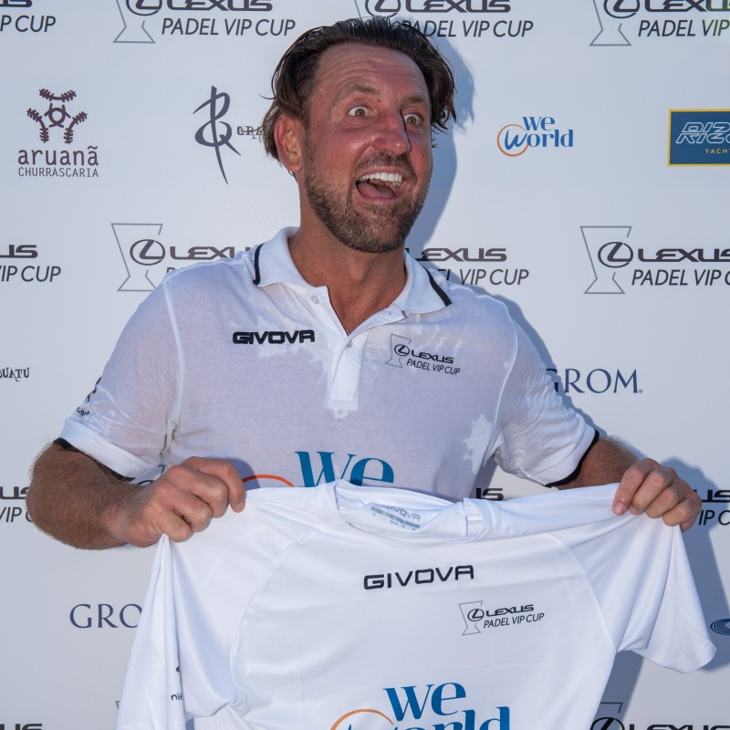 Locatelli's Lexus Padel Vip Cup Worn and Signed Shirts