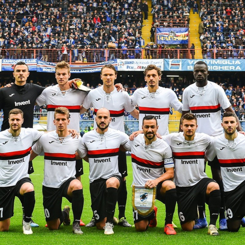 Caprari's Match-Issue Shirt, Sampdoria-Atalanta -  Special 120th Anniversary Edition
