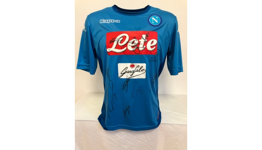 Official Napoli Shirt, 2017/18 - Signed by the Squad