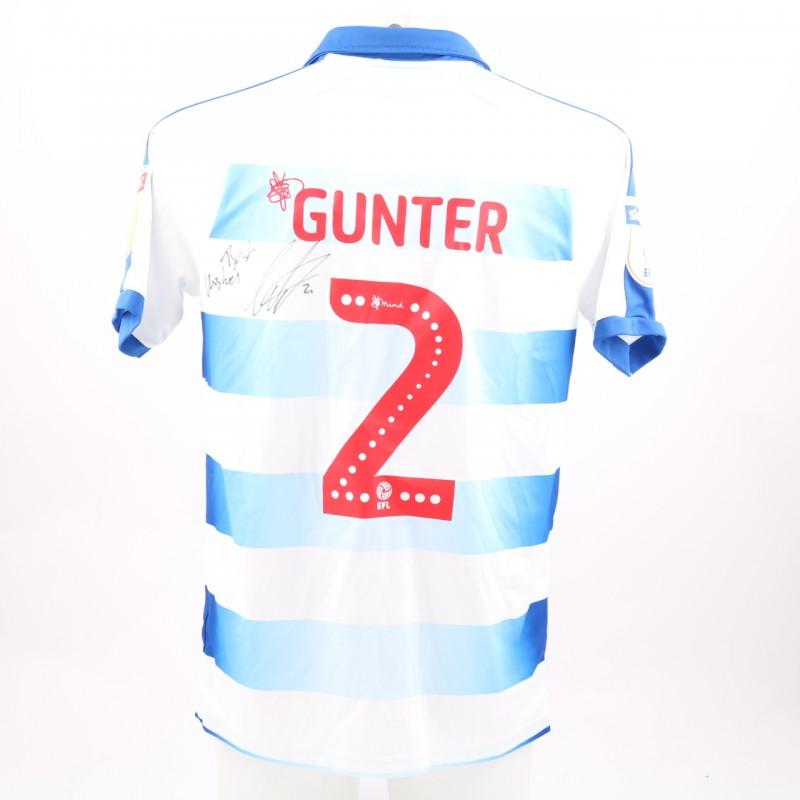 Gunter's Match-Worn Reading FC Signed Poppy Home Shirt