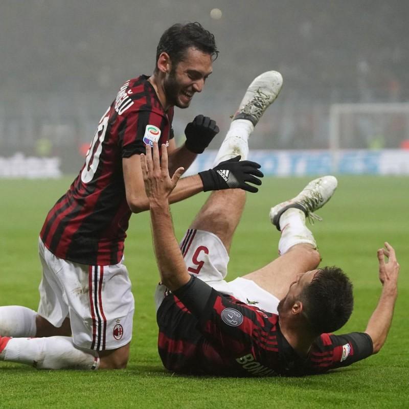 Çalhanoğlu's Signed Match-Issued 2018 Milan-Lazio Shirt