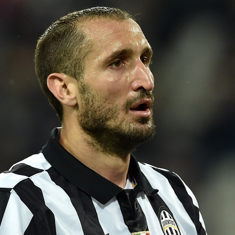 Chiellini's UNWASHED Match-Worn Juventus Shirt, Serie A 2014/15