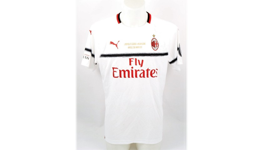 Rui Costa's Worn and Signed Shirt, Liverpool-AC Milan 2019