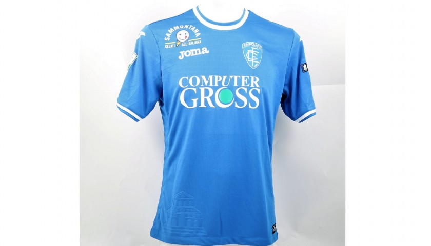 Zappella's Match-Worn Shirt from Empoli-Ascoli with a Special #AiutiamoLI Patch