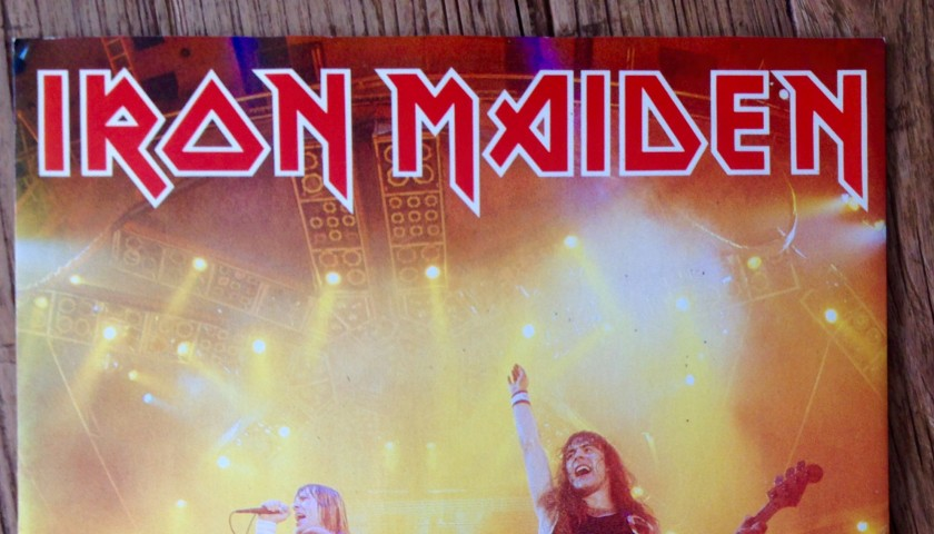 Iron Maiden print signed by Ross Halfin