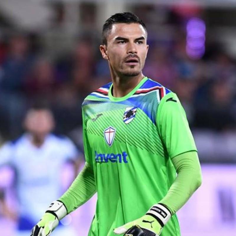 Audero's Sampdoria Match-Issued Signed Shirt, 2019/20