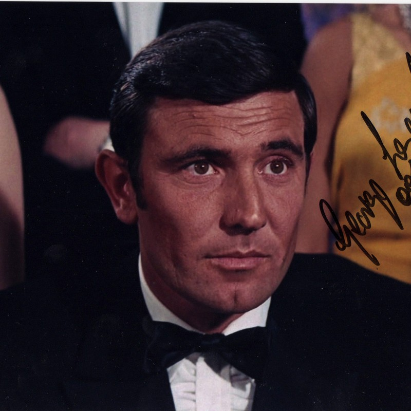 Photograph Signed by 007 George Lazenby