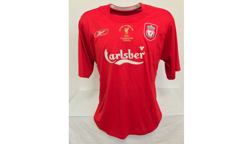 Gerrard's Liverpool Match-Issued Signed Shirt, UCL 2005 Final