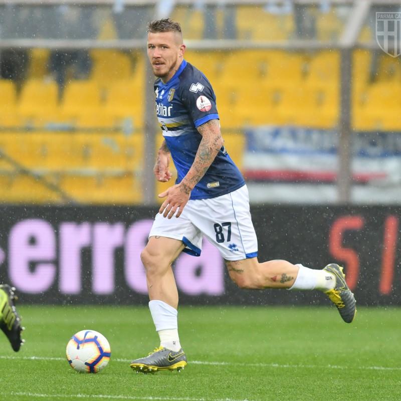 Kucka's Worn Shirt, Parma-Sampdoria - #Blucrociati