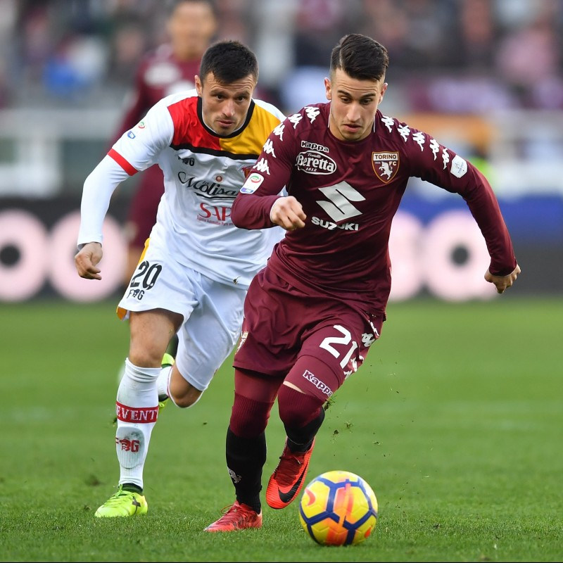 Berenguer's Match-Issued Torino-Benevento Shirt with Special Patch