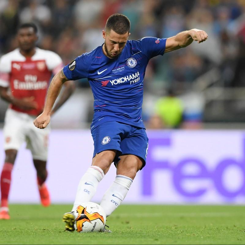 Match Ball EL 2018/19 - Signed by Hazard