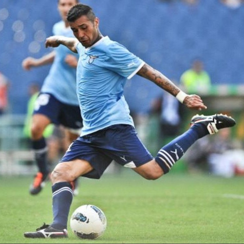 Matuzalem's Lazio Match-Issue Shirt, Europa League 2011/12