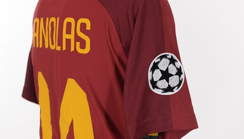Manolas's Match-Worn Roma-Qarabag CL 2017/18 Shirt
