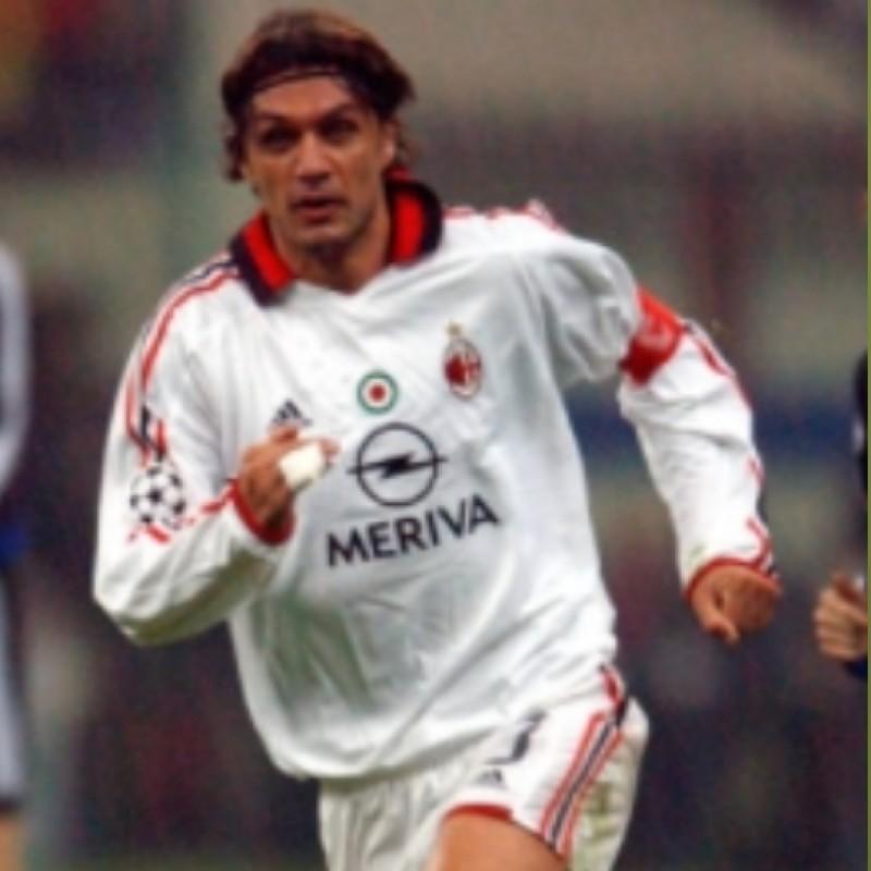 Maldini Milan Issued/Worn Shirt