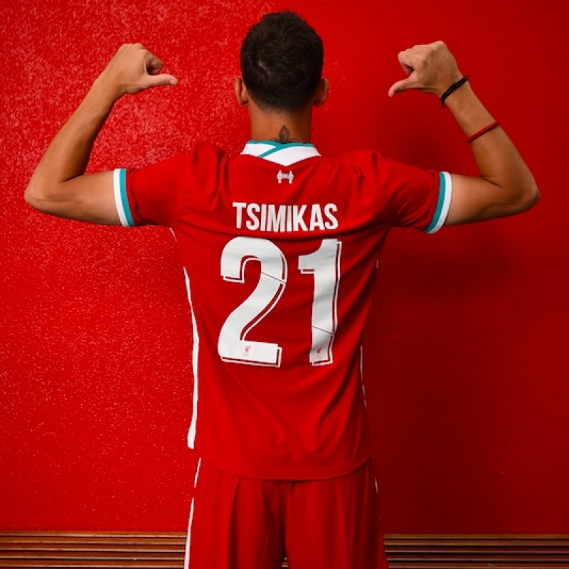 Tsimikas's Bench-Worn and Signed Limited Edition 20/21 Liverpool FC Shirt