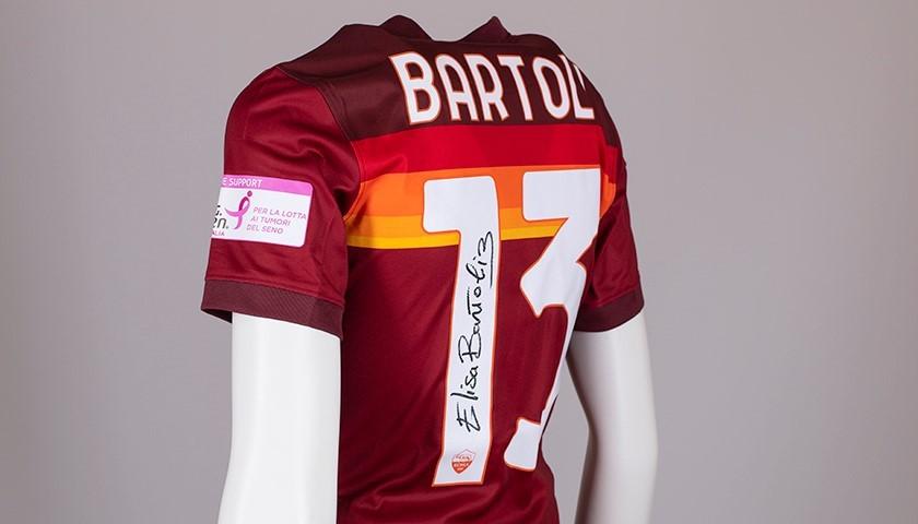 Bartoli's AS Roma Signed Shirt - Special Komen Italia