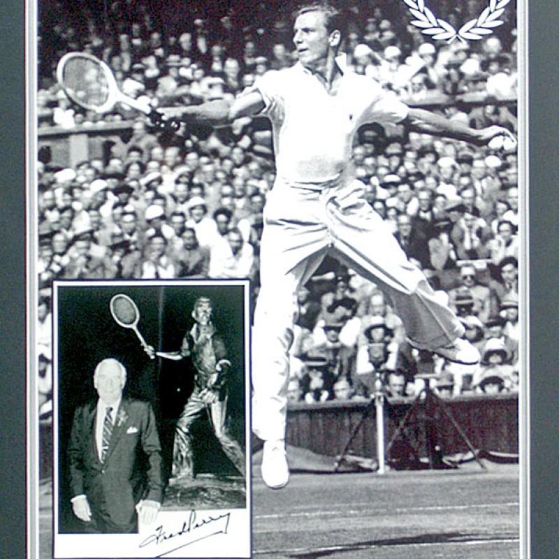 Fred Perry, 'Rare' Hand Signed Tennis Legend Presentation