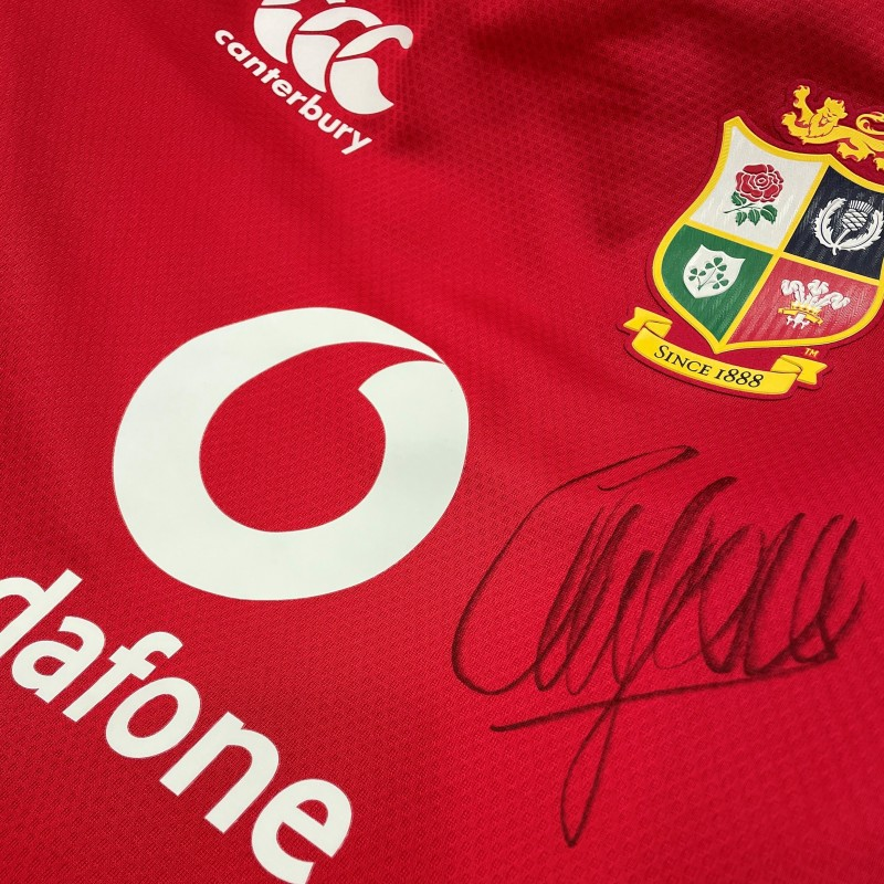 Lions 2021 Test Shirt Worn and Signed by Alun Wyn Jones