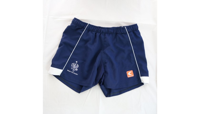 Ian McKinley's Benetton Rugby Worn Training Shorts, 2017/18