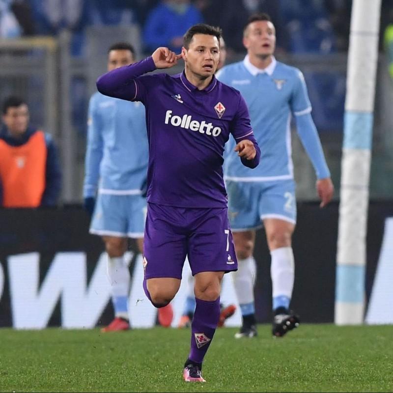 Maglia Zarate indossata Lazio-Fiorentina 2016
