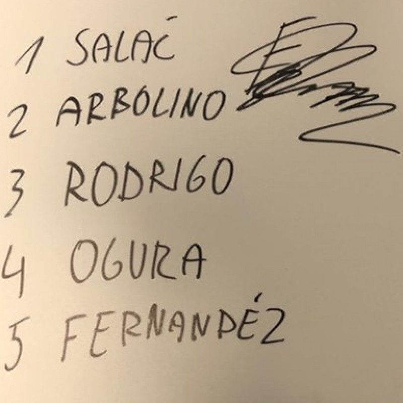 Signed Board of Filip Salac from the Unforgettable First Race Weekend of 2020 in Qatar