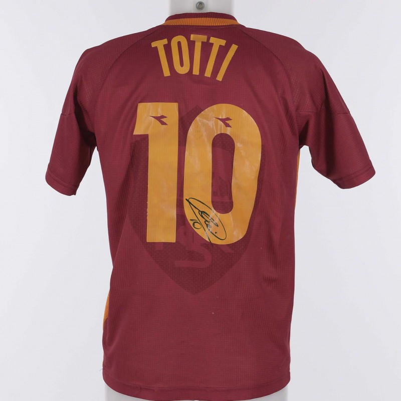 Francesco Totti's Roma Signed Shirt , 1997/1998 Season