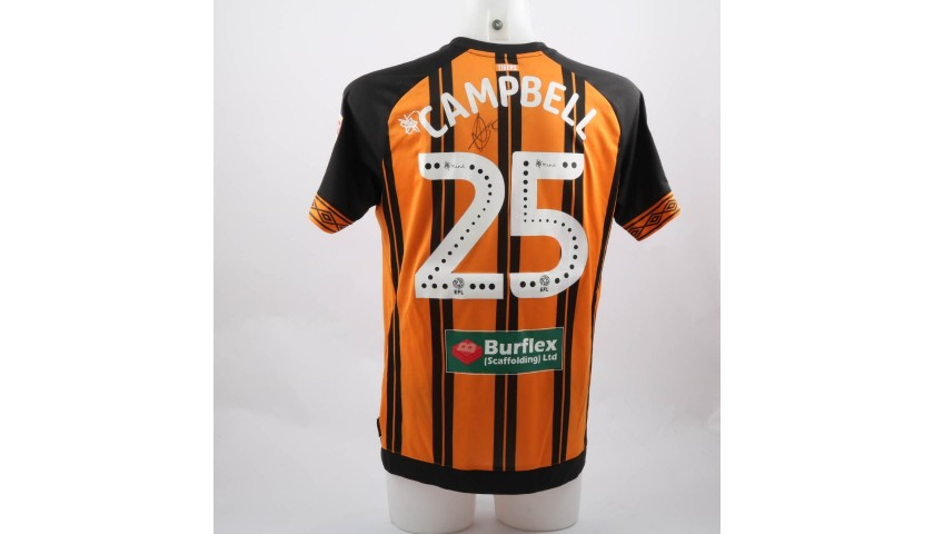 Campbell s Hull city Worn and Signed Poppy Shirt - CharityStars ff970d803