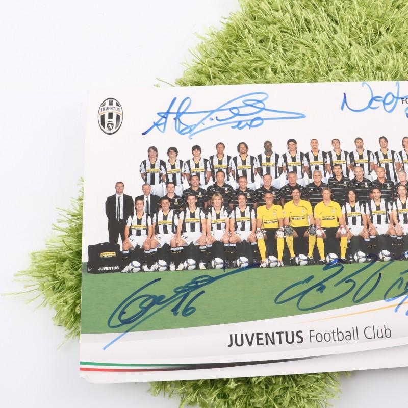 Juventus team picture, season 2008/2009 - signed