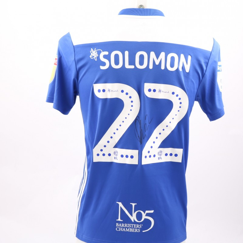 Solomon's Birmingham City FC Worn and Signed Poppy Shirt