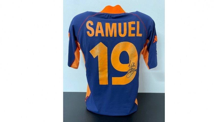 Samuel's Official Roma Signed Shirt, 2001/02